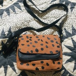 Fossil Soft Leather Leopard Print Crossbody